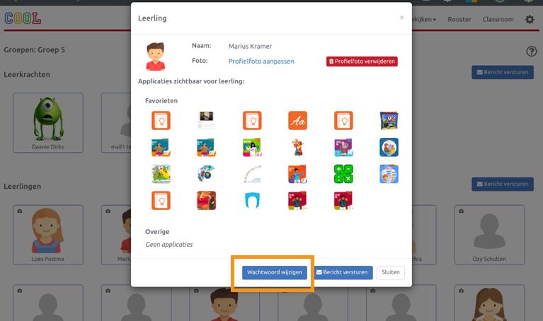 Wachtwoord wijzigen in COOL platform